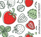 strawberry seamless pattern.... | Shutterstock .eps vector #1139782037