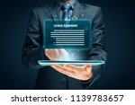 license agreement concept. user ... | Shutterstock . vector #1139783657