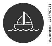 Sailboat Icon. Sailing Ship...
