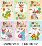 set of greeting cards happy... | Shutterstock .eps vector #1139789654