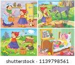 little red riding hood. fairy... | Shutterstock . vector #1139798561