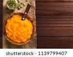 fresh homemade vegan pumpkin...   Shutterstock . vector #1139799407