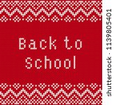 back to school banner with text ... | Shutterstock .eps vector #1139805401