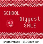 back to school sale banner with ... | Shutterstock .eps vector #1139805404