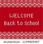 back to school banner with text ... | Shutterstock .eps vector #1139805407