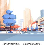 city street road skyscraper... | Shutterstock .eps vector #1139810291
