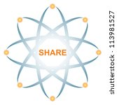 share icon illustration with... | Shutterstock . vector #113981527