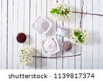 skin care product samples and...   Shutterstock . vector #1139817374