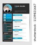 personal resume. modern... | Shutterstock .eps vector #1139821667