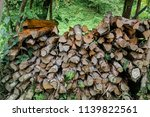 pile of firewood backgrounds... | Shutterstock . vector #1139822561