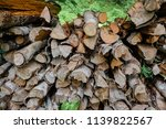 pile of firewood backgrounds... | Shutterstock . vector #1139822567
