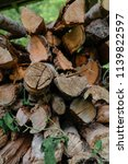 pile of firewood backgrounds... | Shutterstock . vector #1139822597