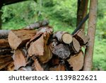 pile of firewood backgrounds... | Shutterstock . vector #1139822621