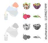fruit  vegetable salad and...   Shutterstock .eps vector #1139827499