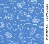 seamless pattern with foods...   Shutterstock .eps vector #1139828681