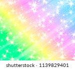 glitter rainbow background. the ... | Shutterstock .eps vector #1139829401