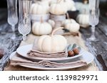 Place Setting On A Rustic...