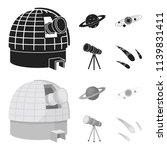 observatory with radio... | Shutterstock .eps vector #1139831411