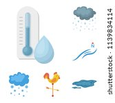different weather cartoon icons ... | Shutterstock .eps vector #1139834114