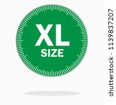 xl size clothing label   vector ... | Shutterstock .eps vector #1139837207