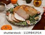 Carving Whole Roasted Turkey...