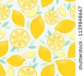 vector seamless lemon bright...   Shutterstock .eps vector #1139848667