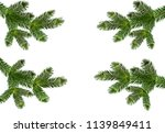 four green realistic branches... | Shutterstock .eps vector #1139849411