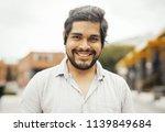 attractive brunette latin man...   Shutterstock . vector #1139849684