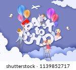 back to school 1 september card ... | Shutterstock .eps vector #1139852717