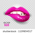 sexy lips  bite one's lip ...   Shutterstock .eps vector #1139854517