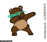 dabbing bear vector desin   Shutterstock .eps vector #1139855375