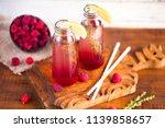 summer refreshing non alcoholic ...   Shutterstock . vector #1139858657