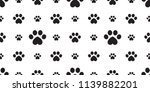 dog paw seamless vector... | Shutterstock .eps vector #1139882201