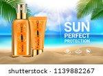 sun protection sunscreen sprays ... | Shutterstock .eps vector #1139882267
