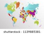 color world map vector | Shutterstock .eps vector #1139885381