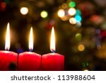 christmas background with... | Shutterstock . vector #113988604