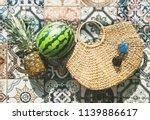 summer lifestyle background.... | Shutterstock . vector #1139886617