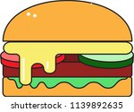 cheeseburger with tomato...   Shutterstock .eps vector #1139892635