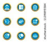 render assistance icons set.... | Shutterstock .eps vector #1139895584