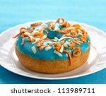 fresh baked donut - stock photo