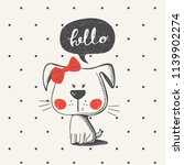 cute puppy.cartoon hand drawn... | Shutterstock .eps vector #1139902274