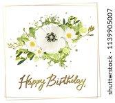 floral template card  garden... | Shutterstock .eps vector #1139905007