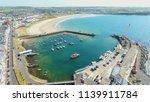 portrush town atlantic ocean... | Shutterstock . vector #1139911784