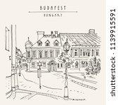 street in budapest city ... | Shutterstock .eps vector #1139915591
