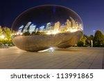 Millennium Park  Chicago. Clou...