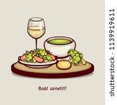 tasty dinner vector...   Shutterstock .eps vector #1139919611