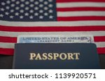 passport card of usa covered by ... | Shutterstock . vector #1139920571