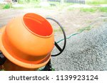 photo concrete mixer installed... | Shutterstock . vector #1139923124
