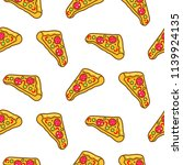 pizza slice seamless pattern...   Shutterstock .eps vector #1139924135