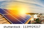 photovoltaic power plant on the ... | Shutterstock . vector #1139929217